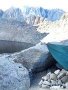 Rock Climbing Photo: Super top secret high alpine Bivi!!!