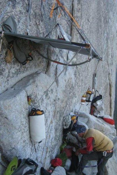 Rock Climbing Photo: Plush Bivi for 10+ !!!! It was OK! ;)-