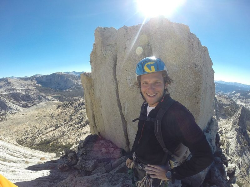 Rock Climbing Photo: Just me at the top of Mathes Crest!