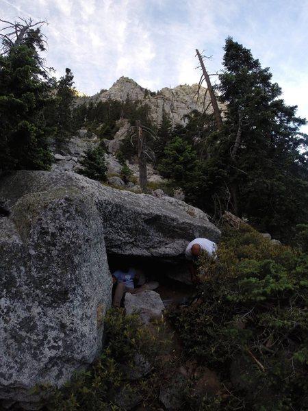 Rock Climbing Photo: UFO Bivi Cave!!