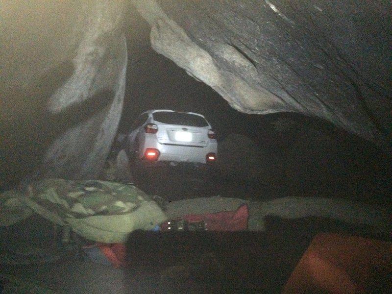 Rock Climbing Photo: South Ridge Bivi Cave!!