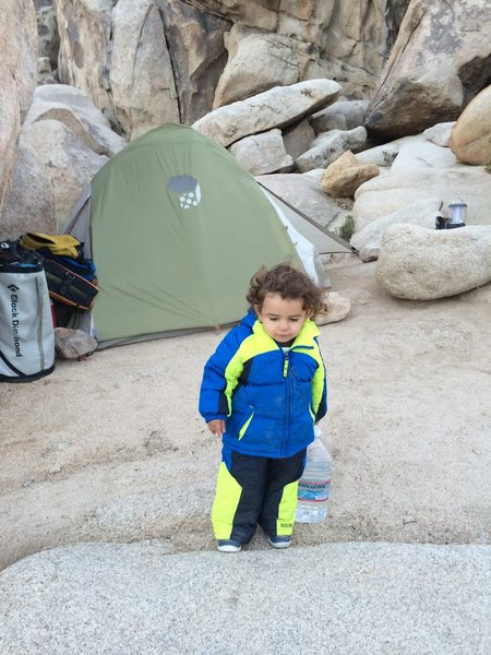 Rock Climbing Photo: Family car camping bivouac!!!