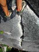 Rock Climbing Photo: Awesome 5.9 crack climbing on High Mountain Woody.