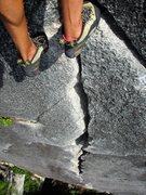 Rock Climbing Photo: Awesome 5.9 crack climbing on High Mountain Woody.