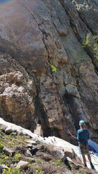 Rock Climbing Photo: Garon on FA