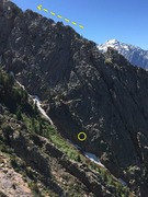 Rock Climbing Photo: Overview of area - following this ridge will get y...