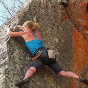 Rock Climbing Photo: Gaining the arete again