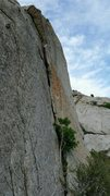 Rock Climbing Photo: The second pitch beckoning