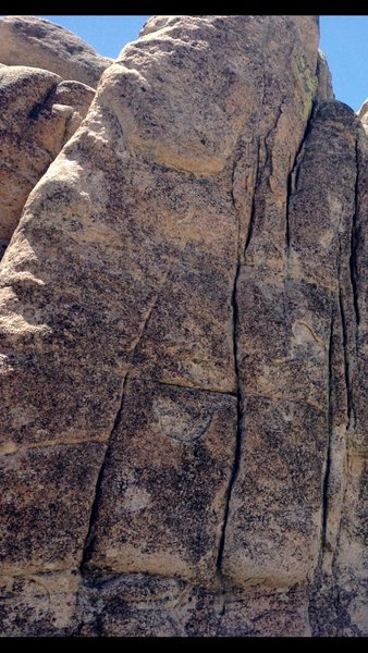 Far left the arete in this pic...Left Border of picture cuts out some of the route.  Kindergarten cop 5.9 sport