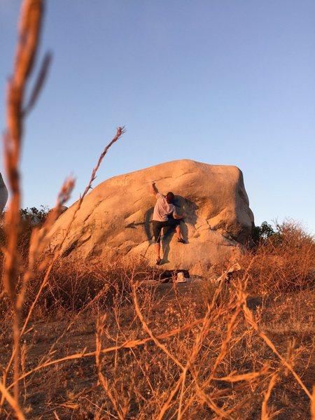 Climbing Shoot to Kill Melrose Boulders