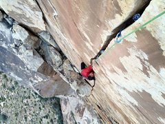 Rock Climbing Photo: Mark Collar fist-fighting on The Schwa