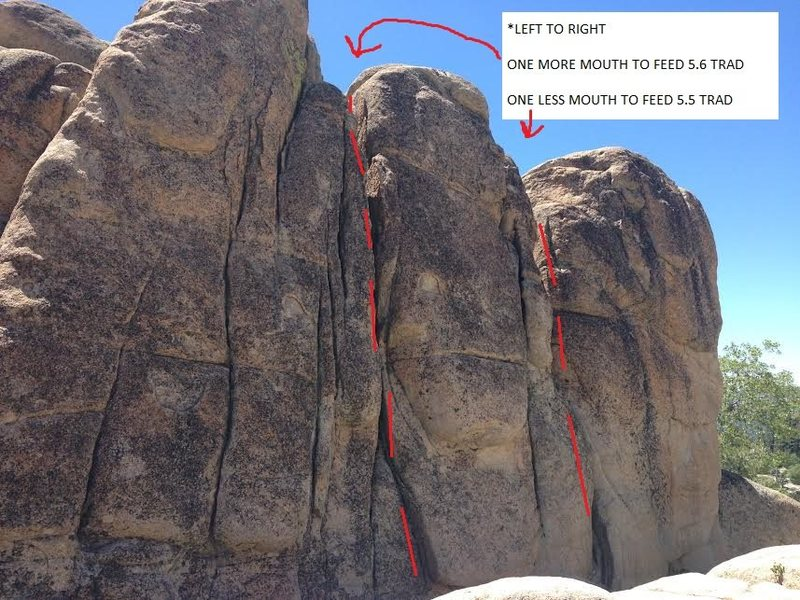One Less Mouth To Feed 5.5 Trad<br> (right route in photo)
