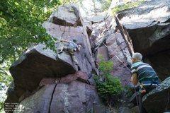 Rock Climbing Photo: Make that foot stick!