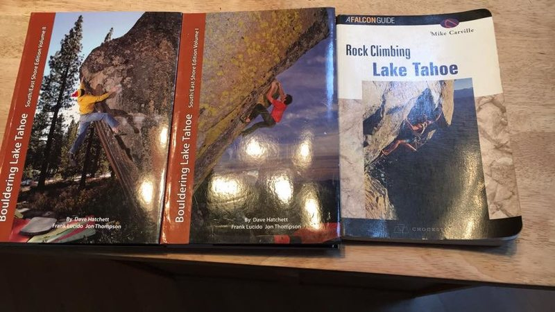Rock Climbing Photo: Tahoe guidebooks for sale