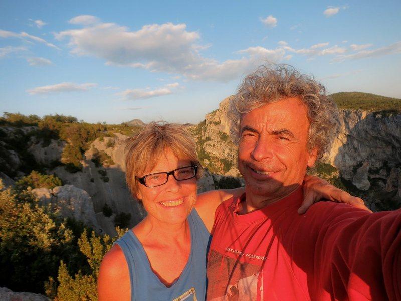 David and Paula in Verdon