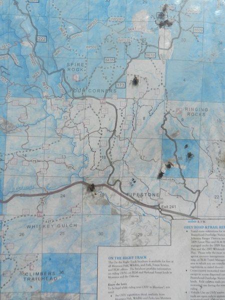 Rock Climbing Photo: Map of the Pipestone area.