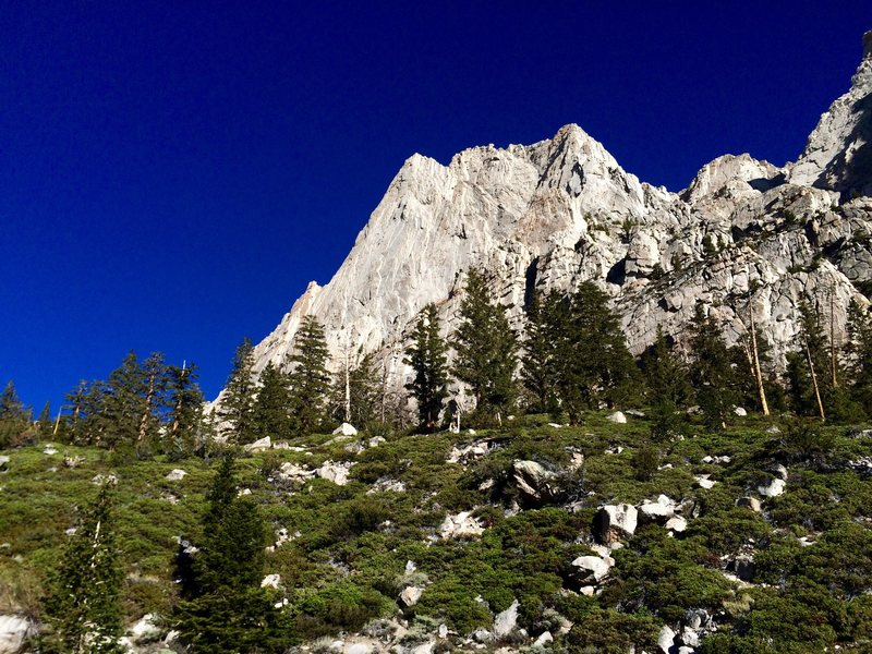 Rock Climbing Photo: The South Face of Peak 3986 as seen from the appro...