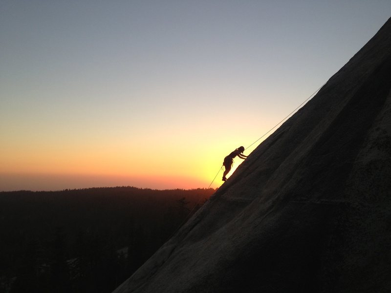 Rock Climbing Photo: Big Sleep at Dusk.