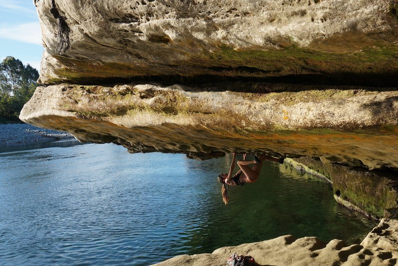 Rock Climbing Photo: First time deep water soloing!