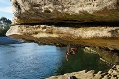 First time deep water soloing!