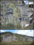 Rock Climbing Photo: Predatory Instincts route and inset details.