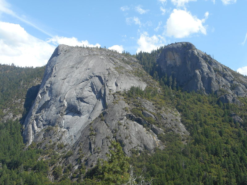 Calaveras Dome and Hidden Dome. Photo from Deer Bridge Dome.