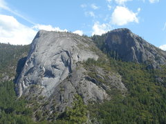 Rock Climbing Photo: Calaveras Dome and Hidden Dome. Photo from Deer Br...