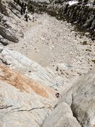Rock Climbing Photo: Looking down the P2 corner