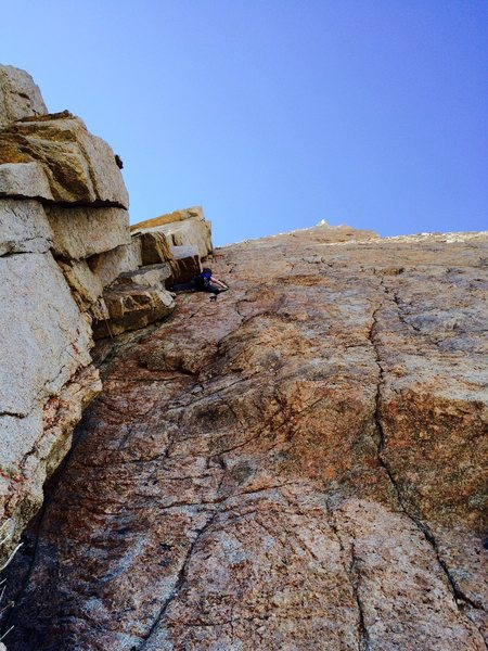 Rock Climbing Photo: Natalie leading P6