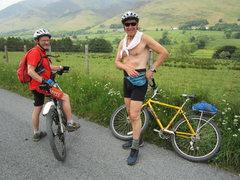 Rock Climbing Photo: Biking with Hinkes