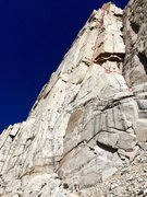 Rock Climbing Photo: The Red Baron Tower (III 5.10 1,100'). The first 5...