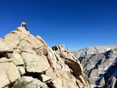 Rock Climbing Photo: NB traversing off the summit ridge on the descent ...