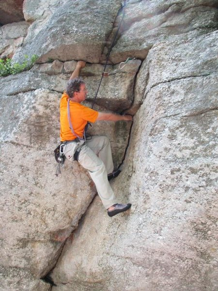 Rock Climbing Photo: This is about two moves off the ground.  Once you ...