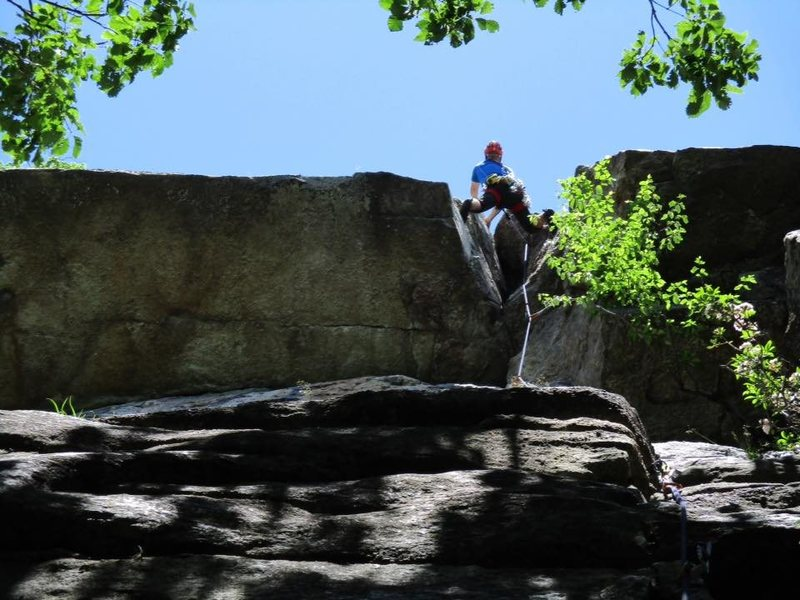 Such a cool climb.  Only in the Gunks would a fantastic feature like this cleft go at 5.7.