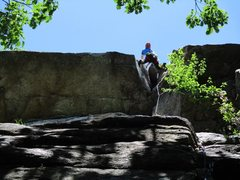 Rock Climbing Photo: Such a cool climb.  Only in the Gunks would a fant...