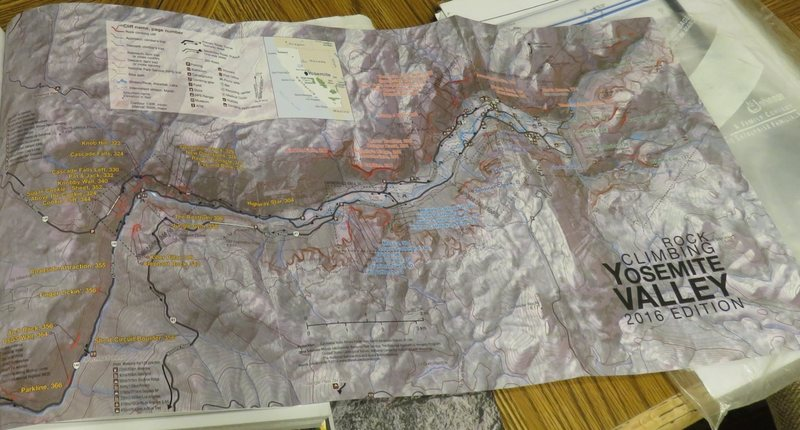 The very useful fold out map in the new Yosemite guide book.