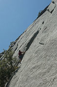 Rock Climbing Photo: Nearing the top of the fun first pitch of Tabby Tr...