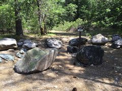 Rock Climbing Photo: Trail starts here on an old road. Walk past this s...