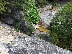 Rock Climbing Photo: Second creek crossing at the top of the rise. You ...