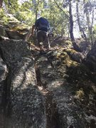 Rock Climbing Photo: A little bit of third class as you follow the trai...
