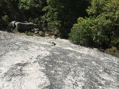 Rock Climbing Photo: At the top of the third class go right, trail then...