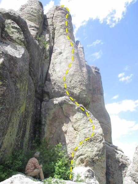 Rock Climbing Photo: Sam at base of route.