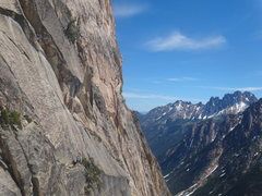 Rock Climbing Photo: Alex & Adam (I think) working on Pitch 2 as seen f...