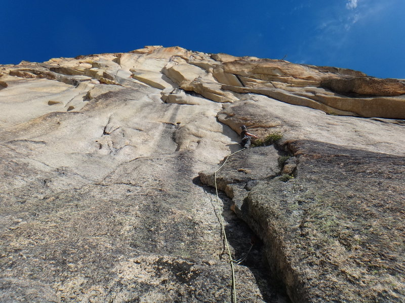 Rock Climbing Photo: One of the routes closer to the saddle. This is no...