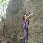 Rock Climbing Photo: The 5.10a start variation