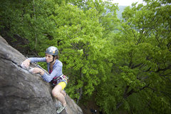 Rock Climbing Photo: Jen on Lonesome Dove. Nice job Jen!  Photo Copyrig...