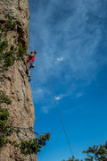 Rock Climbing Photo: Looking ahead on Pueblo Gringos