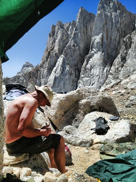 Minimalist Alpine Bivi with an alright view!!