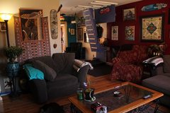 Rock Climbing Photo: Living room and training room