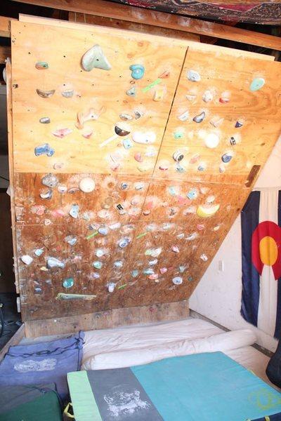 Rock Climbing Photo: Climbing wall in garage!